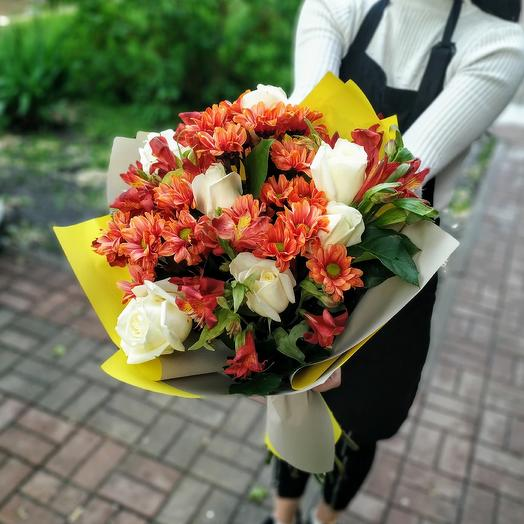 Пламенная страсть: букеты цветов на заказ Flowwow