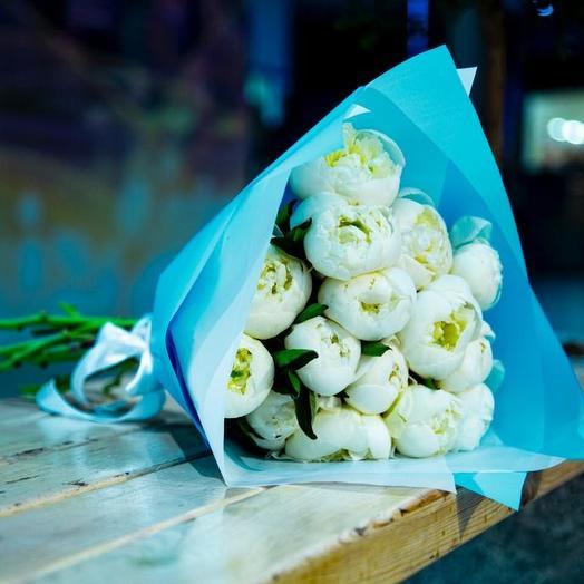 Белый пион: букеты цветов на заказ Flowwow