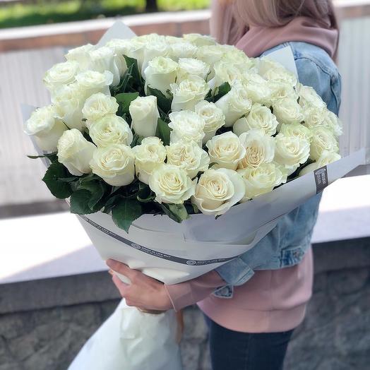 51 высокая роза: букеты цветов на заказ Flowwow