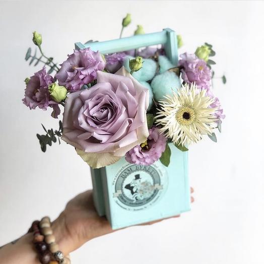 Ящик мини: букеты цветов на заказ Flowwow