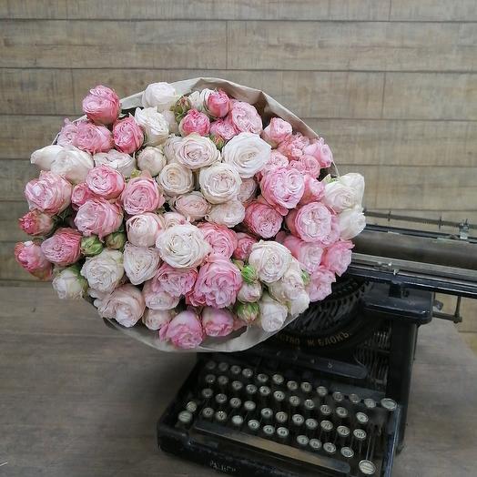 """Пионовидные розы """"зефирка"""": букеты цветов на заказ Flowwow"""