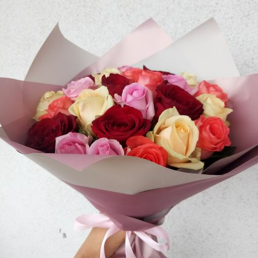 25 mix roses