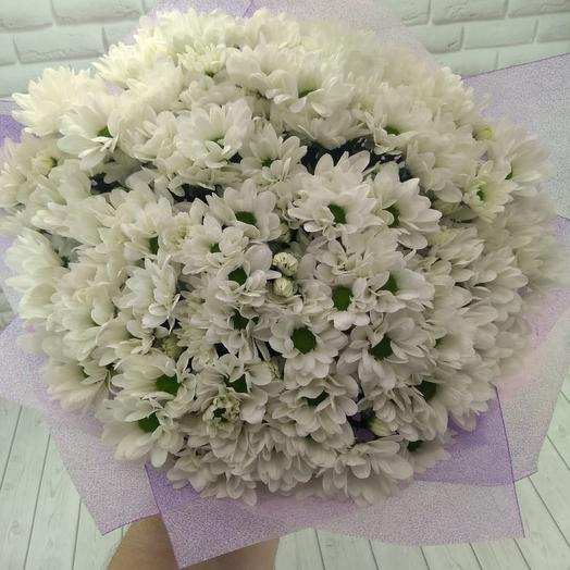 Букет из 35 белых хризантемы: букеты цветов на заказ Flowwow