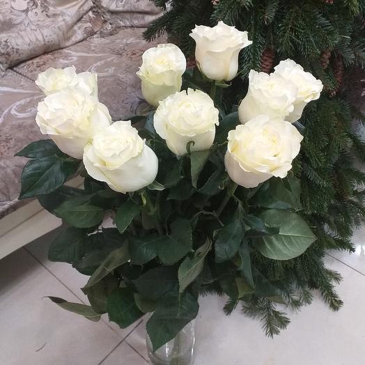9 роз, 70см