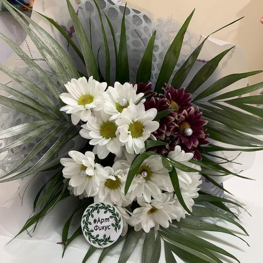 Хризантемы «инь-янь»: букеты цветов на заказ Flowwow