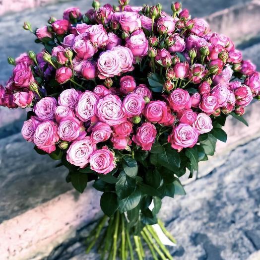 """Букет из куставых пионавидных роз """"Клэр"""""""