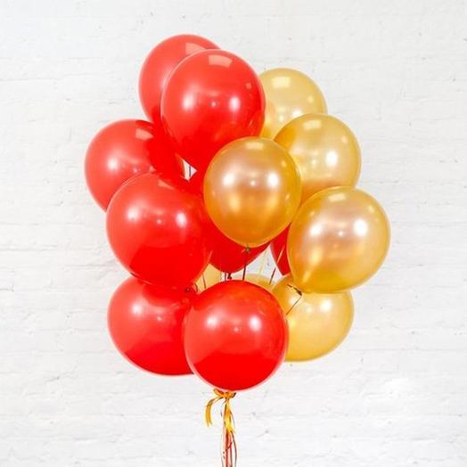15 гелиевых шариков