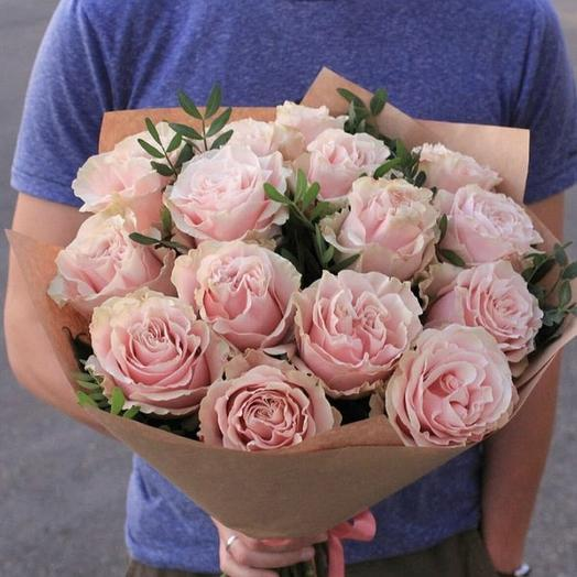 """Букет из розовых роз """"Пинк Мондиал"""""""