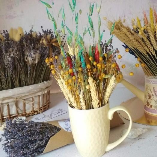 Кашпо-кружка+ букет лаванды: букеты цветов на заказ Flowwow
