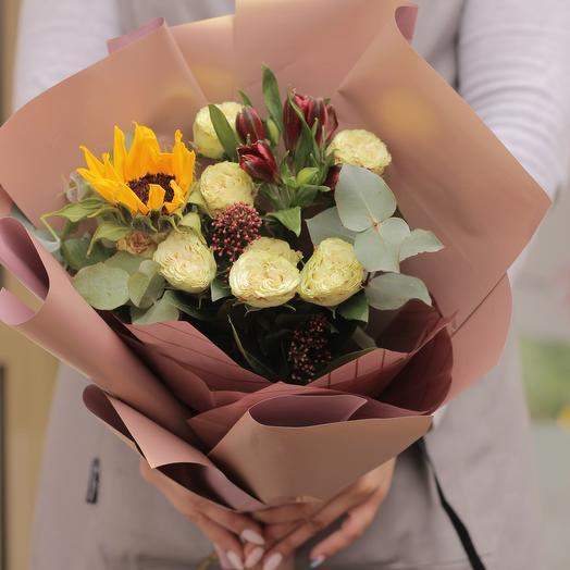 Весенний закат: букеты цветов на заказ Flowwow