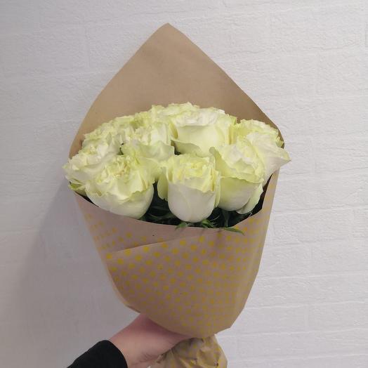 Ажурные розы в крафте