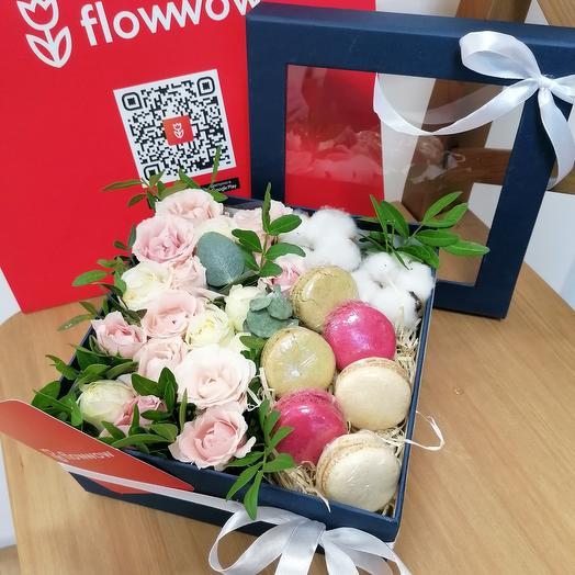 """Цветы в коробке """"Улыбнись"""""""