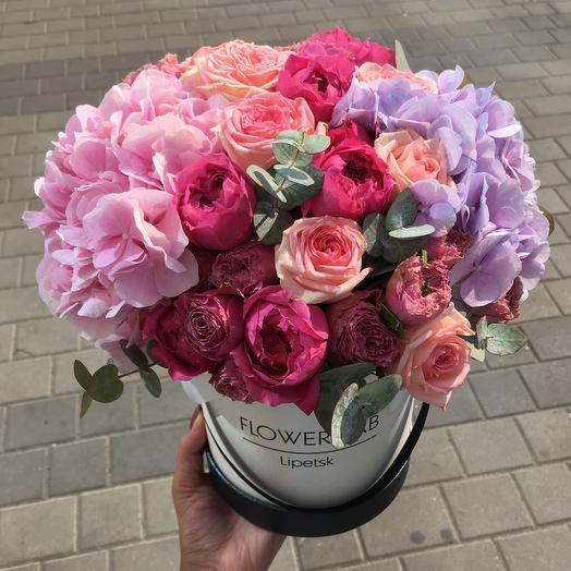 Цветы в коробке Лето
