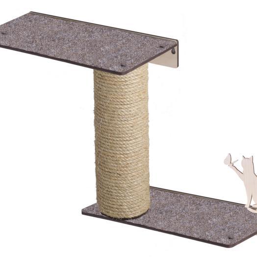 Настенный игровой комплекс для кошек Хвостович 119, цвет: бежевый