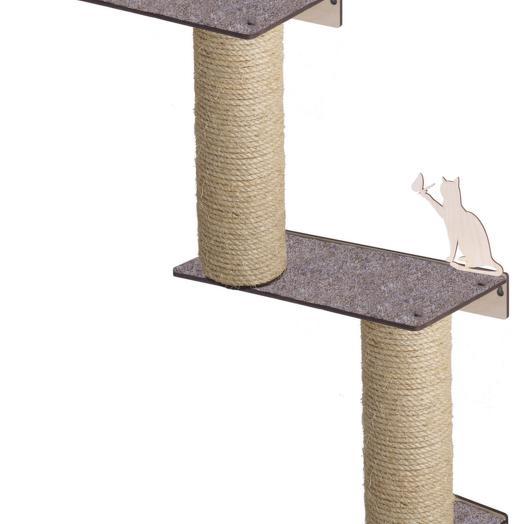 Настенный игровой комплекс для кошек Хвостович 125 цвет: бежевый