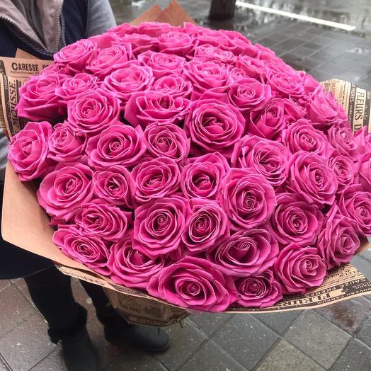 Букет из 67 роз Аква