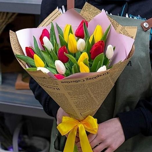 Тюльпаны микс 19шт