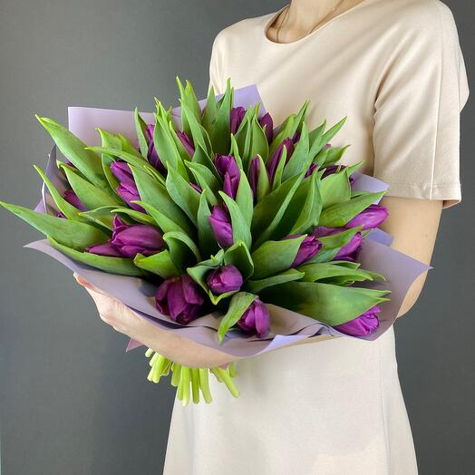 Тюльпан фиолетовый 35