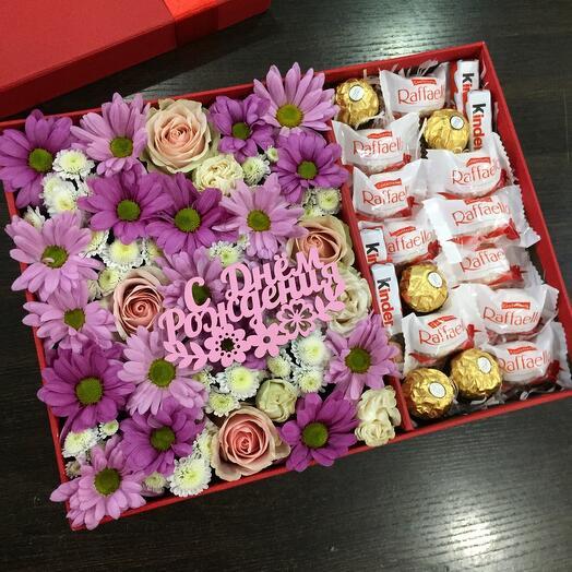 Цветы в коробке 077177