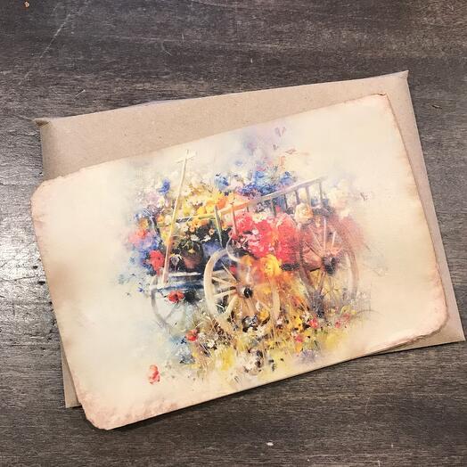 Ретро открытка Цветочная