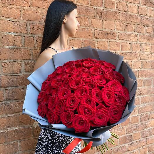 Букет 51 Ароматная Роза (60см)