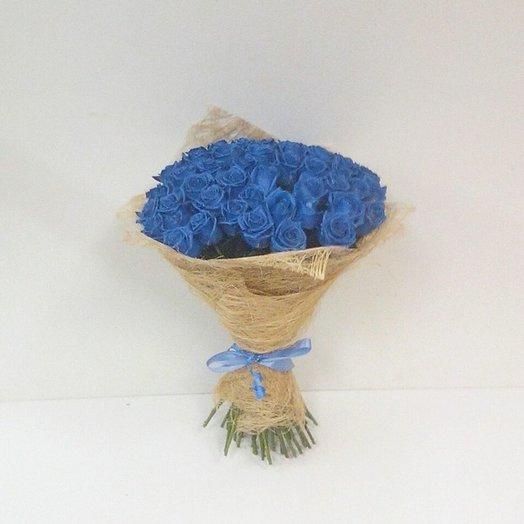 51 синяя роза: букеты цветов на заказ Flowwow