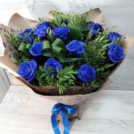Синие розы: букеты цветов на заказ Flowwow