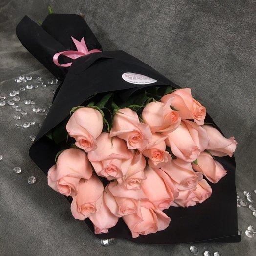 Розовые розы: букеты цветов на заказ Flowwow