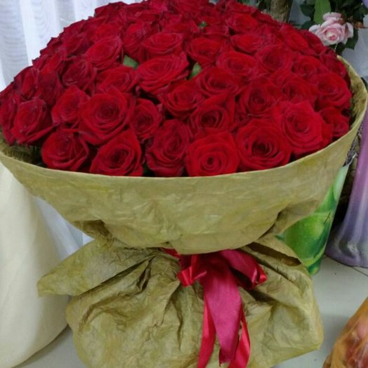 Букет из красных роз.: букеты цветов на заказ Flowwow
