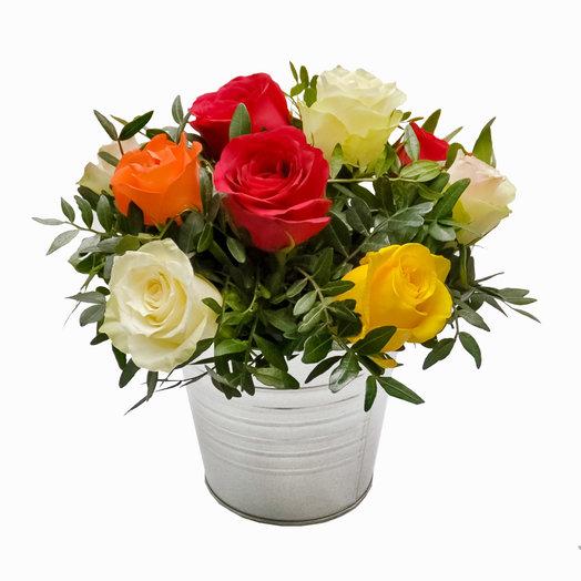 """Композиция с розами """"Идеальный подарок"""": букеты цветов на заказ Flowwow"""