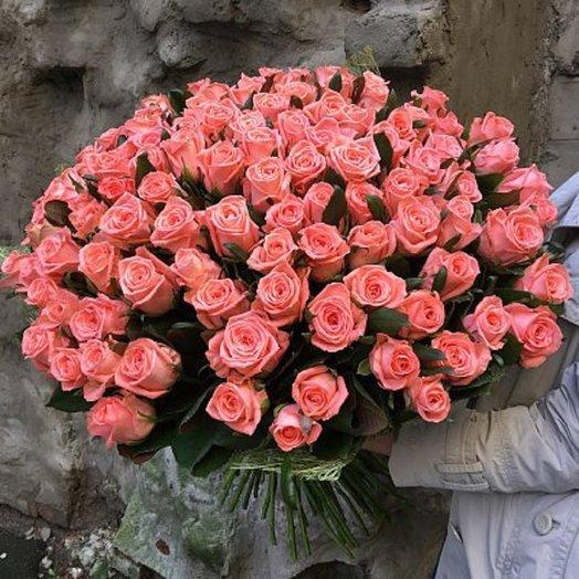 Нежнейшие розовые розы: букеты цветов на заказ Flowwow