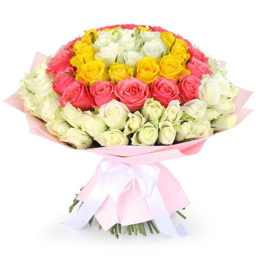 Букет из 101 розы микс Ожерелье