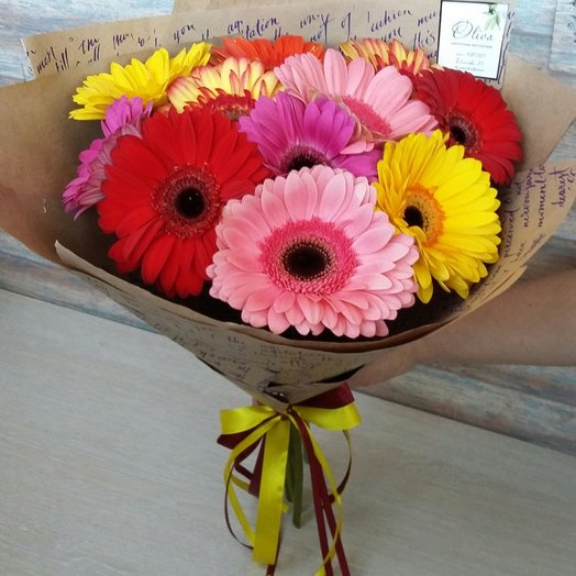Bouquet of 11 gerberas