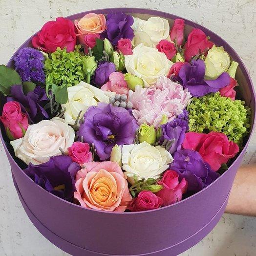 Шляпная коробочка микс: букеты цветов на заказ Flowwow