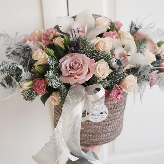 Композиция «Зимнее наслаждение»: букеты цветов на заказ Flowwow