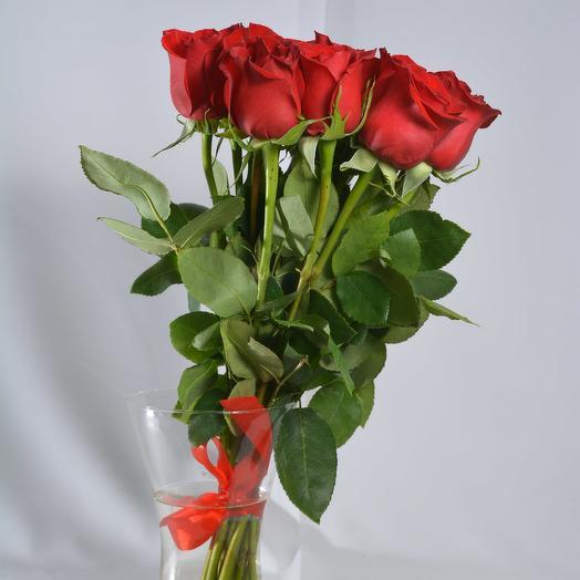 15 красных роз 40 см в букете: букеты цветов на заказ Flowwow