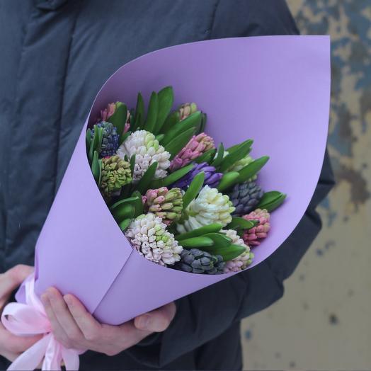 15 гиацинтов микс: букеты цветов на заказ Flowwow