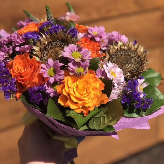 Золотые подсолнухи: букеты цветов на заказ Flowwow