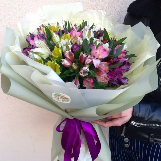 Букет из 15 Альстромерий Микс: букеты цветов на заказ Flowwow
