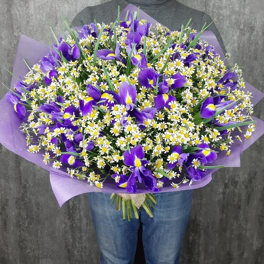 Фиолетовое солнце: букеты цветов на заказ Flowwow
