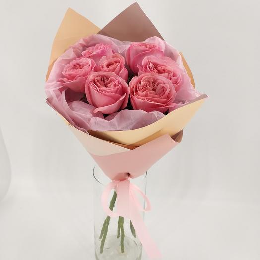 Букет из пионовидных роз: букеты цветов на заказ Flowwow