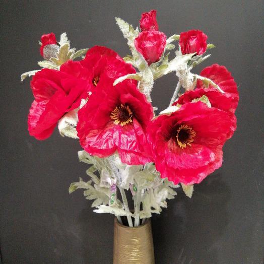 Маки (искусств.): букеты цветов на заказ Flowwow