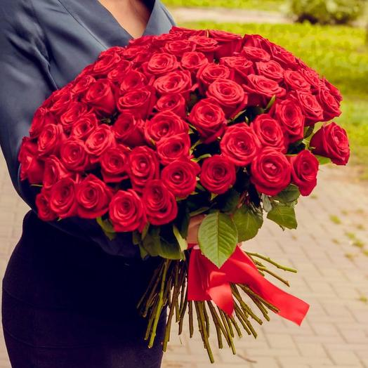 71 красная роза