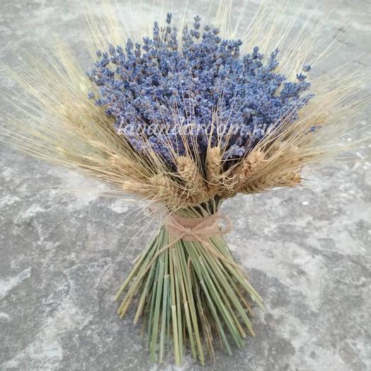 Букет лаванды с пшеницей: букеты цветов на заказ Flowwow