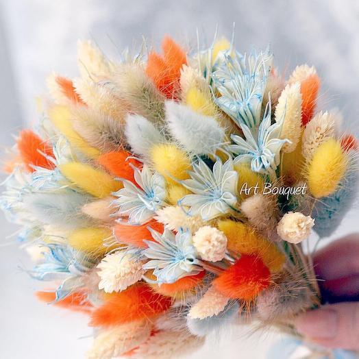 Букет из стабилизированных цветов (сухоцветы)