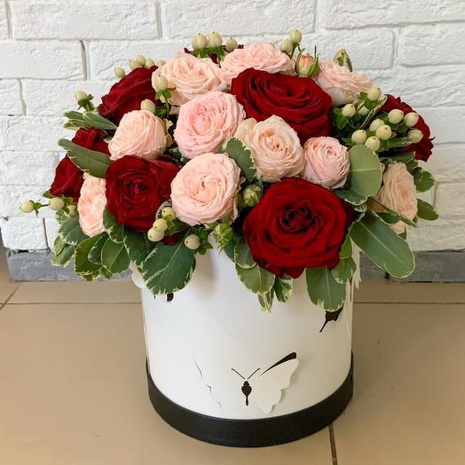 Коробка Нежные чувства: букеты цветов на заказ Flowwow