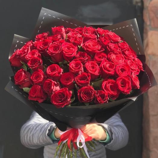 Букет из 51 розы 50 см