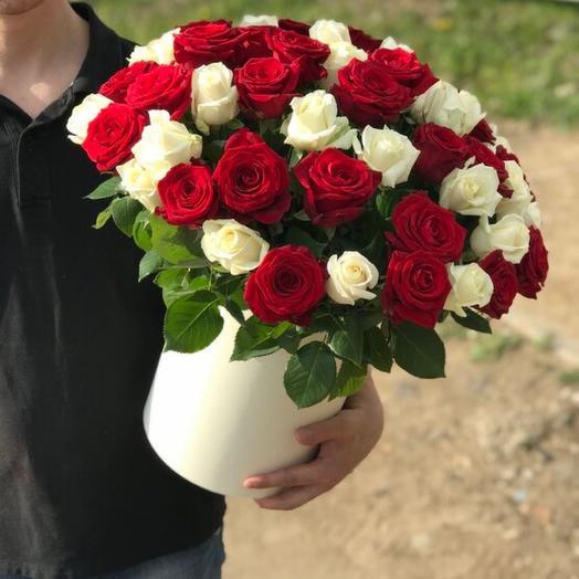 Коробка из 75 роз