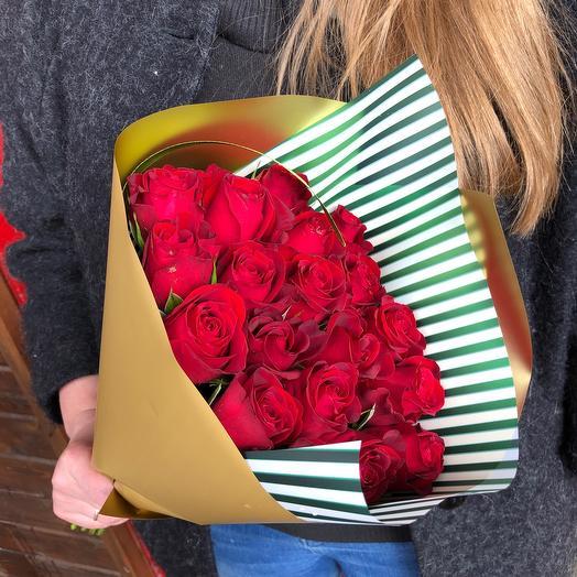 Роза 40 см красная