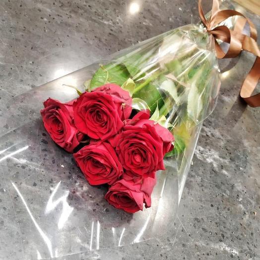 ✅ Букет 5 красных роз